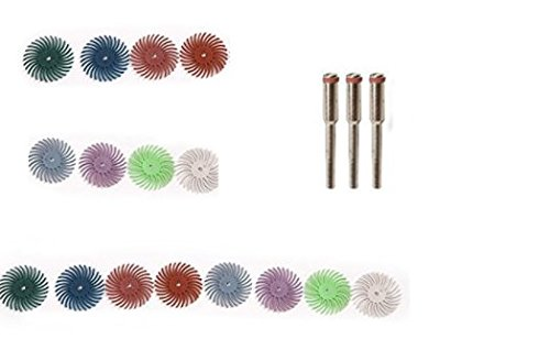 Grit 80# Preamer 16 pcs 1 Radial Bristle Disc Brushes for Nuclear carving Polishing 2500# PR-251144