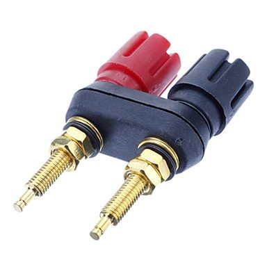 Banana Plug Binding Post Welding Gold-Plated Black&Red for Home Theater by HHPH