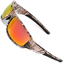 MOTELAN Polarized Outdoor Sports Sunglasses Tr90 Camo Frame for Men Women Driving Fishing Hunting Reduce Glare