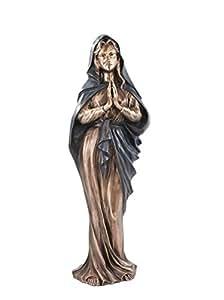 serafinum Estatua de bronce María rezando–Madonna Regina, verde, 70x25x18cm (HxBxT)