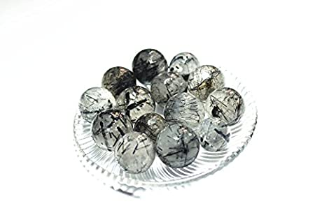 100grams/lot Besthk 20-25mm Natural Gemstone Sphere Ball Aura Balancing Metaphysical Ball (Tourmilated - Winter Ball Natural