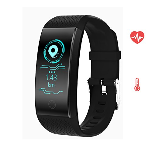 Rorsche Fitness Tracker,Activity Tracker with Heart Rate Monitor Watch, IP67 Waterproof Smart Wristband with Calorie Counter Watch Pedometer Sleep Monitor for Kids Women Men (Black) by Rorsche
