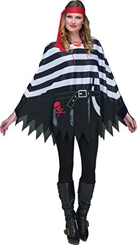 Pirate Costumes For School - Fun World Women's Pirate Poncho Adlt,