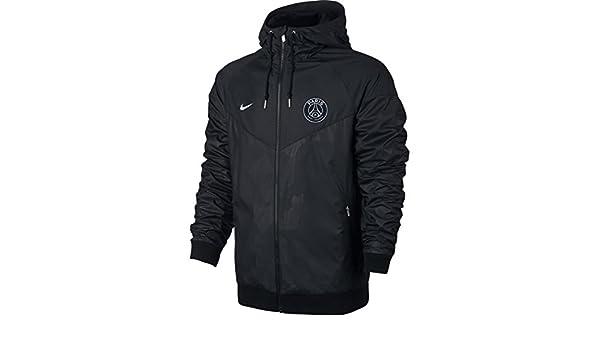 Nike PSG M NSW WR WVN AUT Cup Chaqueta Paris Saint Germain FC, Hombre, Negro / (Black/Pure Platinum), 2XL: Amazon.es: Deportes y aire libre