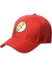 DC Comics Men's Flash Faux Wool Baseball Cap with 3D Embroidered Logo