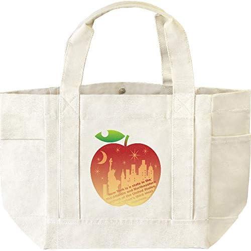 エムワイディエス(MYDS) ビッグアップル(林檎とニューヨーク) /キャンバス4ポケット多機能トートバッグ