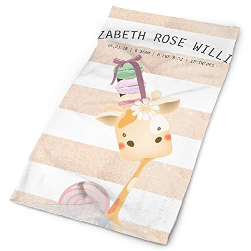 Lollipop Little Cap Giraffe - Little Baby Giraffe Macaron Lollipop Men Women Face Mask Neck Gaiter Sun Shade Shield Bandanas Headwear Wide Headbands Scarf Head Wrap