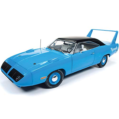 Tunes Edition Looney Limited (1970 Plymouth Superbird Petty Blue with Black Top 50th Anniversary Looney Tunes Limited Edition to 1002 Pieces Worldwide 1/18 Diecast Model Car by Autoworld AMM1137)