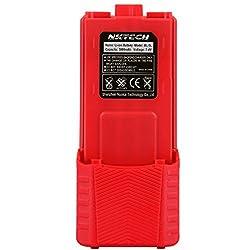 Nktech Bl-5l Extended 3800mah 7.4v Li-ion Battery Baofeng Uv-5r Battery For Baofeng Uv-5r V2+ Uv-5re Plus Uv-5ra Bf-f8hp Bf-f8+ Tyt Th-f8 Pofung Two Way Radio Batteries Red
