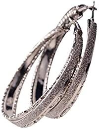 Women Fashion Stainless Steel Hypoallergenic Large Hoop Earrings 50 Mm Diameter