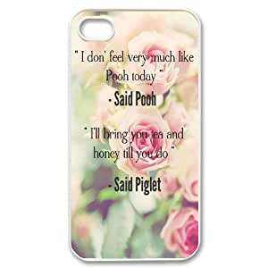 Diy Beautiful Quotes Sunflower Phone Case for iphone 4 White Shell Phone JFLIFE(TM) [Pattern-1]