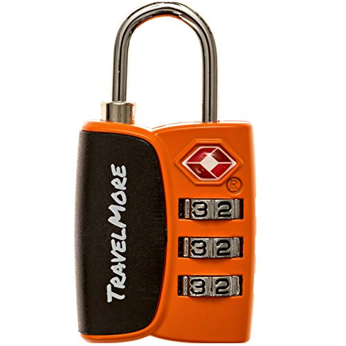 1 Pack Open Alert Indicator TSA Approved 3 Digit Luggage Locks for Travel Suitcase & Baggage (Where To Buy Red Contacts)