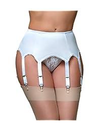 Nancies Lingerie 8 Strap Lycra Panel Garter Belt for Stockings (SSL3) [CA]