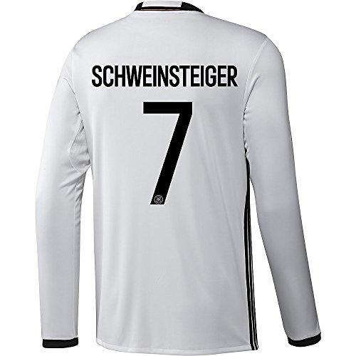 決して共和党悪性のAdidas SCHWEINSTEIGER #7 Germany Home Soccer Jersey Euro 2016 - Long Sleeve (Authentic name and number of player)/サッカーユニフォーム ドイツ 長袖 ホーム用 シュヴァインシュタイガー 背番号7 Euro 2016