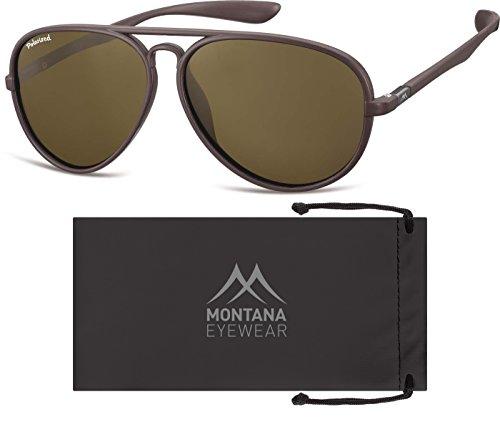 de Unisex Multicolor Sol Brown Gafas Lenses Montana Brown Adulto 4wUF5cq