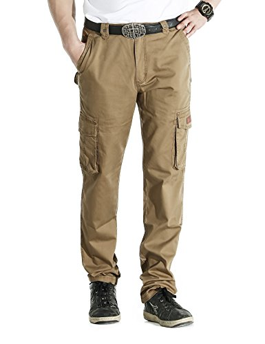 LOHASCASA Men's Big and Tall Cleaning Cargo Pants - Front - Loose