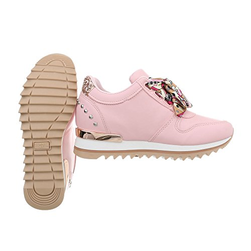 Ital Sneakers Rose da Scarpe Sneaker Design Clair Zeppa Donna 124 G High q4pUT