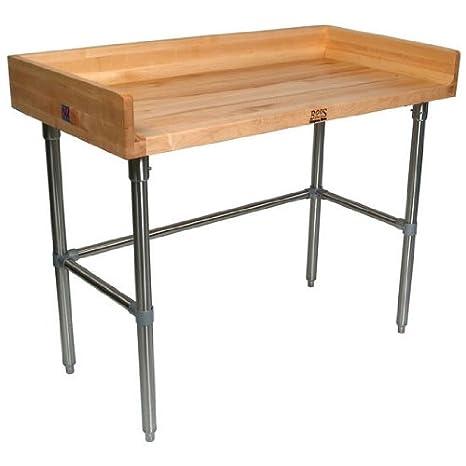 Amazon.com: Mesa superior de arce con patas de acero ...