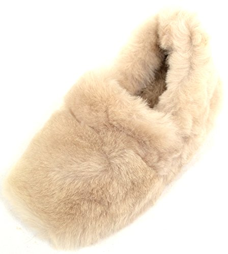 Luxury Beige Fluffy Slip On Womens Sheepskin Snugrugs Slippers 0twE5qx4