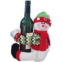 حامل زجاجة النبيذ بتصميم رجل الثلج