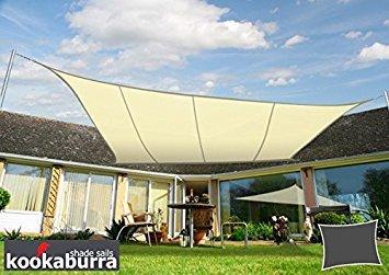 Voile d\'Ombrage Ivoire Rectangle 5x4m - Imperméable - 160g/m2 ...