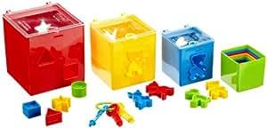 Gowi 453-28 - Juego de piezas para encajar y para apilar (19 piezas)