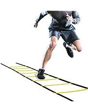 OhhGo scaletta di agilità Regolabile Salto con Gradino funi per Esterni Fitness velocità Attrezzature per lallenamento per Bambini Adolescenti Allenamento per Il Calcio