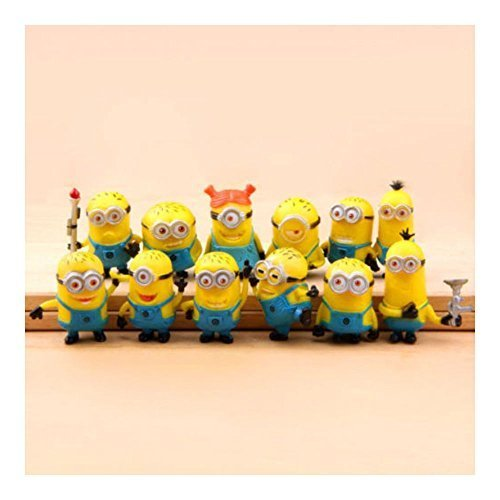 New Set of 12Pcs Despicable me 2 Cute Minions Movie Character Figures Doll Toy by Unknown