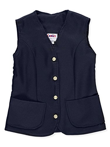 Cookie's Brand Big Girls' Vest - navy, 10 by Cookie's Kids