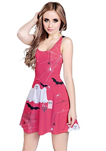 CowCow - Vestido - para mujer Red Ghosts