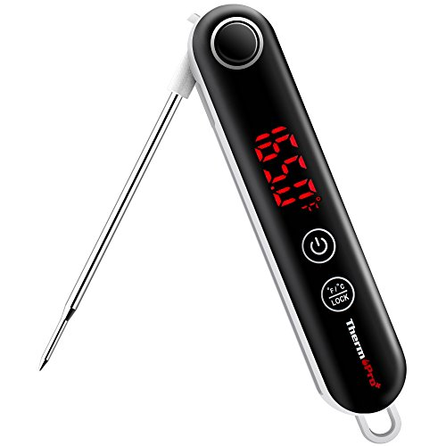 ThermoPro+ TP18 Digital Food Cooking Thermocouple Thermometer Ultra Fast Instant Read Meat Thermometer with Touchable Button for Kitchen BBQ Grill Smoker