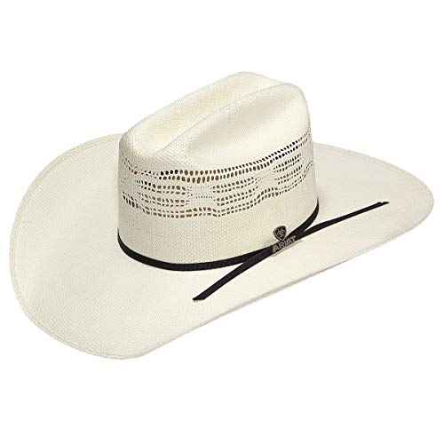 ARIAT A73102 Bangora Tan/Black Band 7 3/8 Brim Straw Cowboy Hat