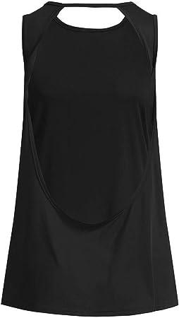 Luckycat Yoga Vests Sujetador Deportivo básicos Tallas Grandes Sujetadores Deportivos Mujer Running Ropa Interior Deportiva Camiseta termica Mujer Interior Verano Suelto Gimnasia Chaleco