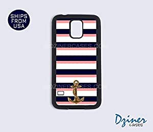 Galaxy Note 3 Case - Anchor Blue White Coral Stripes