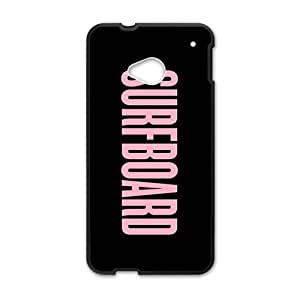 Pink surfboard motto Cell Phone Case for HTC One M7