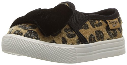 Girls Sneakers Brown (OshKosh B'Gosh Girls' Edie Slip-On Sneaker, Brown/Multi, 10 M US Toddler)