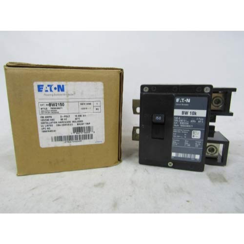 1- Cutler Hammer BW2150 2 pole 1 Phase Circuit Breaker 150 Amps Bolt-on BW Series, type BW bolt-on