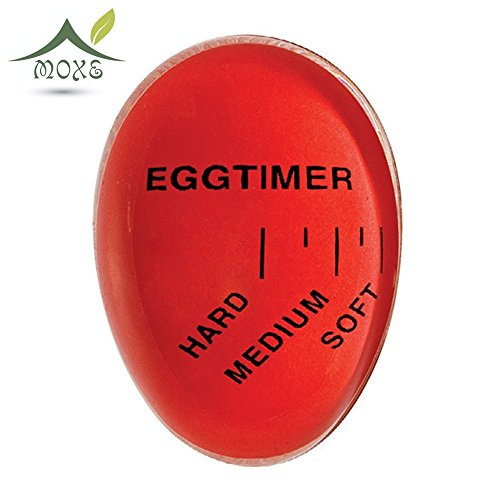 Innovative Color Changing Egg Timer Heat Sensitive Hard/Medium/Soft Boiled Egg Timer Perfect Kitchen Egg Timer Tool by Moxe (Changing Egg Timer)