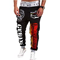 Venxic Men's Flag Print Drawstring Jogger Pants Hip Hop Gym Workout Sweats Pants