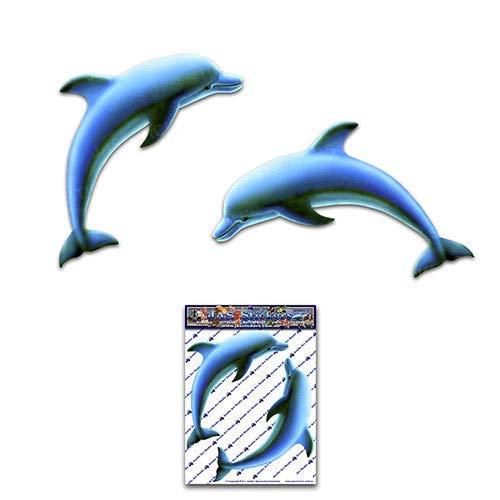 JAS Stickers® Delphin kleine Tier Fisch Surf Meer Aufkleber für Auto LKW Caravan Laptop Boot - ST00057_SML