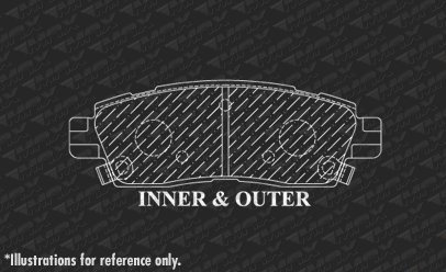 Fits Max Brakes Front /& Rear Carbon Ceramic Performance Disc Brake Pads KT069353 2013 13 2014 14 2015 15 2016 16 2017 17 Chevy Traverse