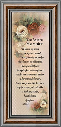 You Became My Mother, Gifts for Mother in Law, in Law Frames, 6x12 7754W