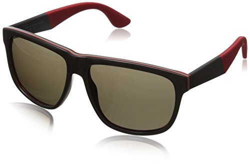 Marc by Marc Jacobs Women's MMJ417S Wayfarer Sunglasses, Brown Red Layer, 57 - Sunglasses Red Marc Jacobs
