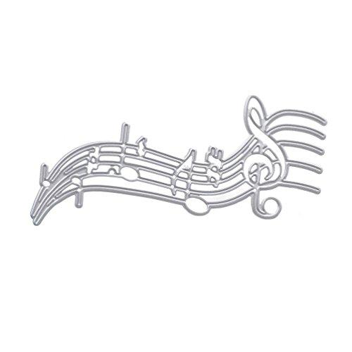 Lychee Music Notes Cut Cutting Dies Template Stencil for DIY Scrapbook Paper Card Album