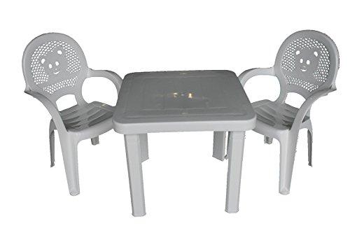 Resol Chaises table en plastique jardin/extérieur enfant ...