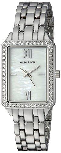 Ladies Silver Dress Watch (Armitron Sport Women's Quartz Metal and Alloy Dress Watch, Color:Silver-Toned (Model: 75/5517MPSV))