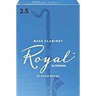 Royal by D'Addario Bass Clarinet Reeds, Strength 2.5, 10-pack