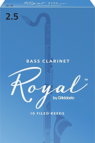 Royal by D'Addario Bass Clarinet Reeds, Strength 2.5, 10-pac