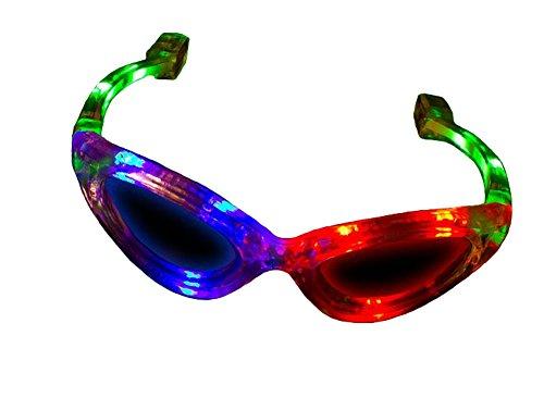 Flashing Panda LED Light-Up Flashing Party Raver Full-Frame Sunglasses Shades, - Panda Sunglasses With