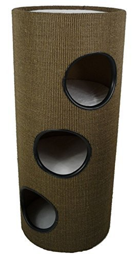 XL-SISAL-Deluxe-Cat-Activity-Centre-and-Scratching-Tree-Post-Pad-with-Hidey-Holes-and-Viewing-Platform